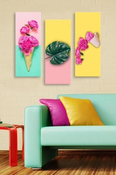 Tablou decorativ (set 3 piese) Marvellous 537MRV5109 multicolor
