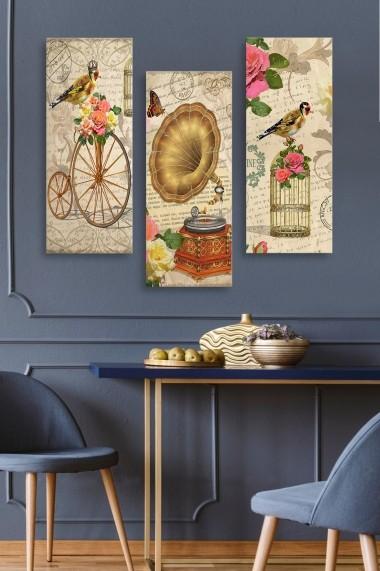 Tablou decorativ (set 3 piese) Marvellous 537MRV5110 multicolor