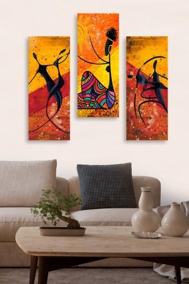 Tablou decorativ (set 3 piese) Marvellous 537MRV5112 multicolor