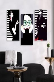 Tablou decorativ (set 3 piese) Marvellous 537MRV5114 multicolor