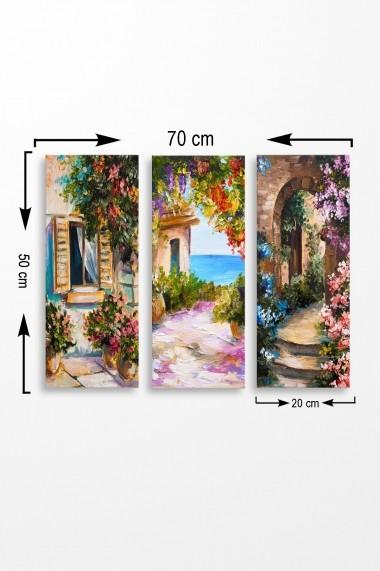 Tablou decorativ (set 3 piese) Marvellous 537MRV5126 multicolor
