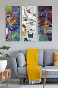 Tablou decorativ (set 3 piese) Marvellous 537MRV5128 multicolor