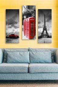 Tablou decorativ (set 3 piese) Marvellous 537MRV5131 multicolor