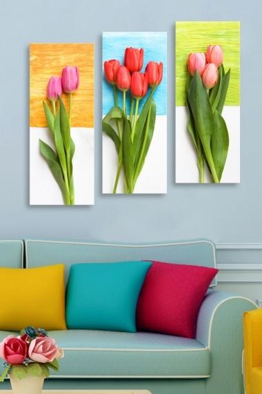 Tablou decorativ (set 3 piese) Marvellous 537MRV5132 multicolor