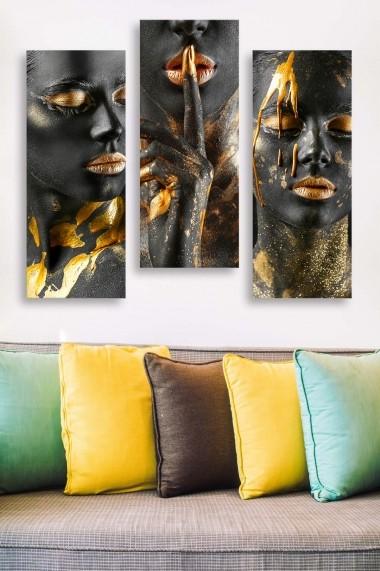 Tablou decorativ (set 3 piese) Marvellous 537MRV5139 multicolor