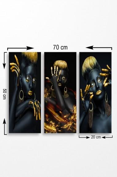 Tablou decorativ (set 3 piese) Marvellous 537MRV5142 multicolor