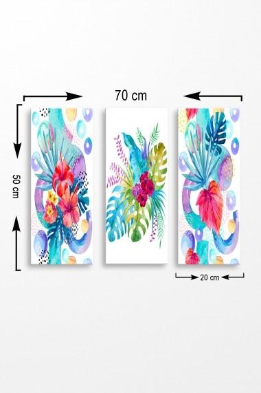 Tablou decorativ (set 3 piese) Marvellous 537MRV5144 multicolor