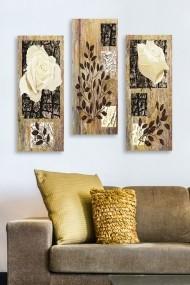Tablou decorativ (set 3 piese) Marvellous 537MRV5147 multicolor