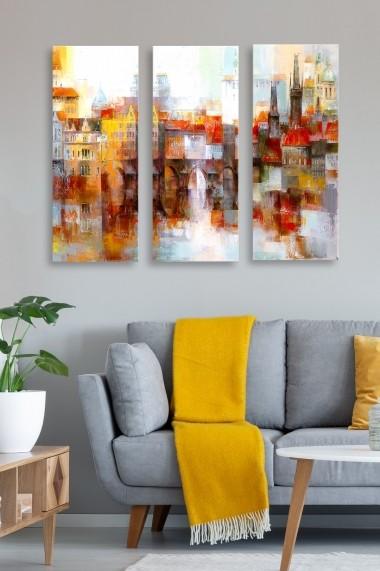 Tablou decorativ (set 3 piese) Marvellous 537MRV5149 multicolor