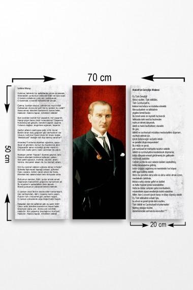 Tablou decorativ (set 3 piese) Marvellous 537MRV5155 multicolor
