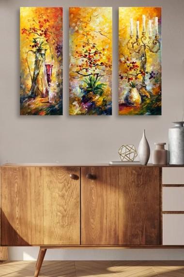 Tablou decorativ (set 3 piese) Marvellous 537MRV5157 multicolor
