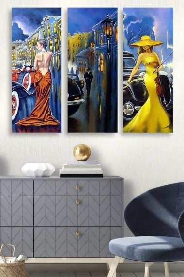 Tablou decorativ (set 3 piese) Marvellous 537MRV5160 multicolor