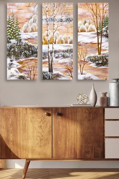 Tablou decorativ (set 3 piese) Marvellous 537MRV5161 multicolor
