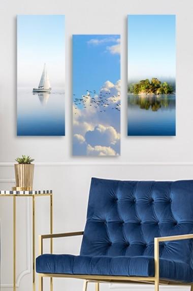 Tablou decorativ (set 3 piese) Marvellous 537MRV5166 multicolor