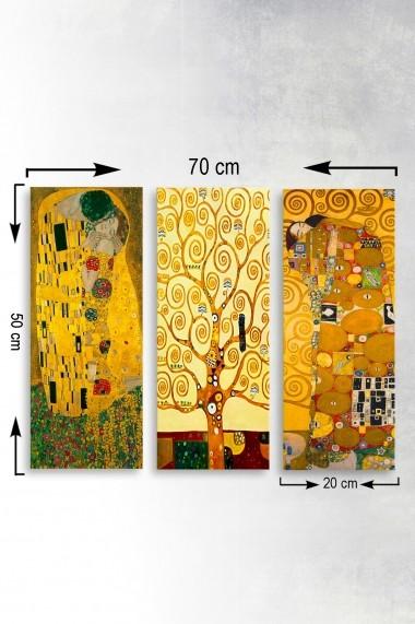 Tablou decorativ (set 3 piese) Marvellous 537MRV5167 multicolor