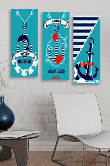 Tablou decorativ (set 3 piese) Marvellous 537MRV5169 multicolor