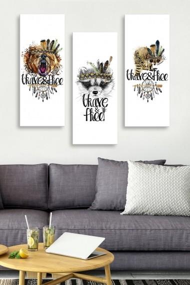 Tablou decorativ (set 3 piese) Marvellous 537MRV5178 multicolor