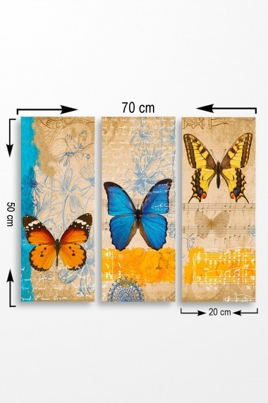 Tablou decorativ (set 3 piese) Marvellous 537MRV5181 multicolor