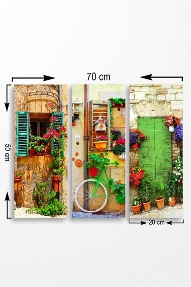 Tablou decorativ (set 3 piese) Marvellous 537MRV5188 multicolor