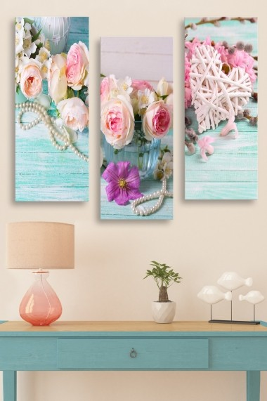 Tablou decorativ (set 3 piese) Marvellous 537MRV5189 multicolor