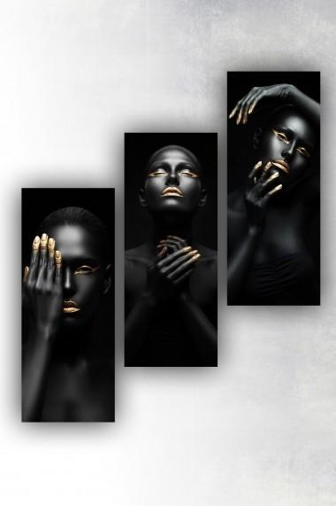 Tablou decorativ (set 3 piese) Marvellous 537MRV5190 multicolor