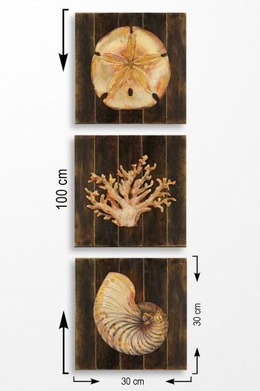 Tablou decorativ (set 3 piese) Marvellous 537MRV5201 multicolor