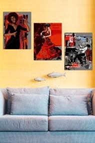 Tablou decorativ (set 3 piese) Marvellous 537MRV5195 multicolor