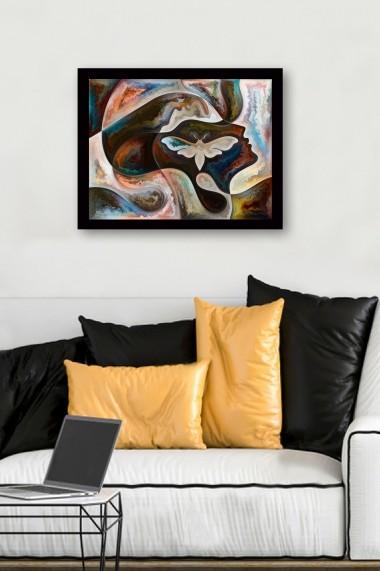 Tablou cu rama din lemn Marvellous 537MRV1250 multicolor