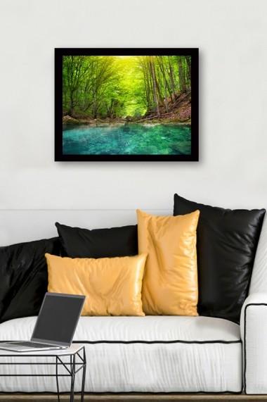 Tablou cu rama din lemn Marvellous 537MRV1272 multicolor