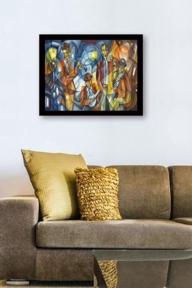 Tablou cu rama din lemn Marvellous 537MRV1273 multicolor