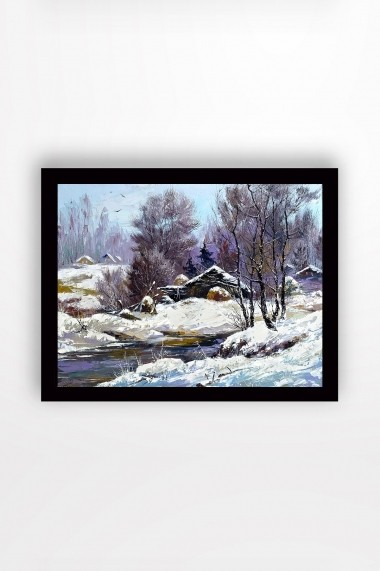 Tablou cu rama din lemn Marvellous 537MRV1335 multicolor