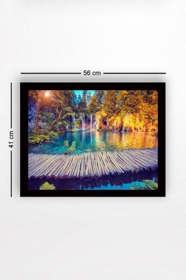 Tablou cu rama din lemn Marvellous 537MRV1587 multicolor