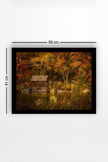 Tablou cu rama din lemn Marvellous 537MRV1602 multicolor