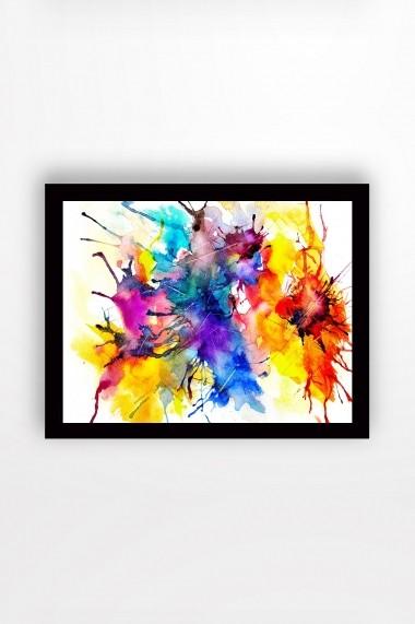 Tablou cu rama din lemn Marvellous 537MRV1702 multicolor