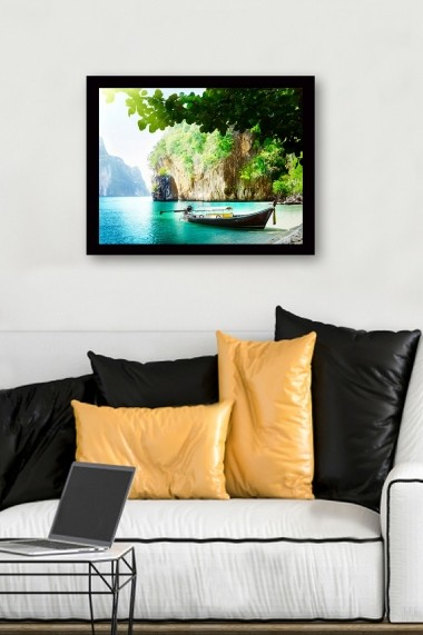 Tablou cu rama din lemn Marvellous 537MRV2265 multicolor