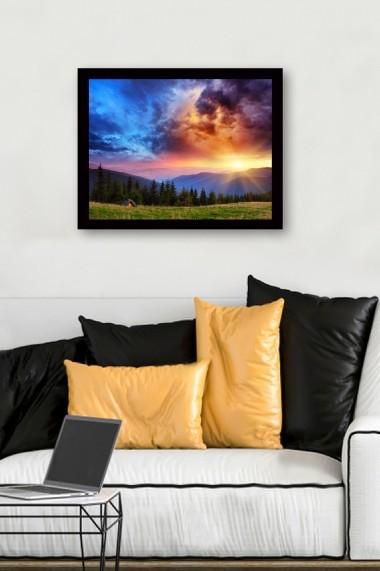 Tablou cu rama din lemn Marvellous 537MRV2268 multicolor