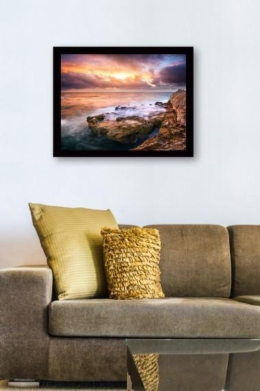 Tablou cu rama din lemn Marvellous 537MRV2272 multicolor