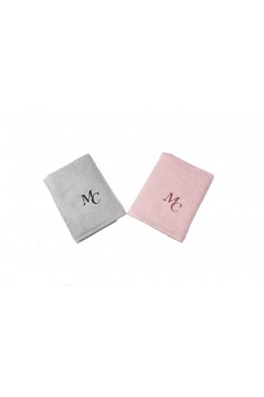 Set 2 prosoape pentru maini Marie Claire ASR-332MCL1210 Roz