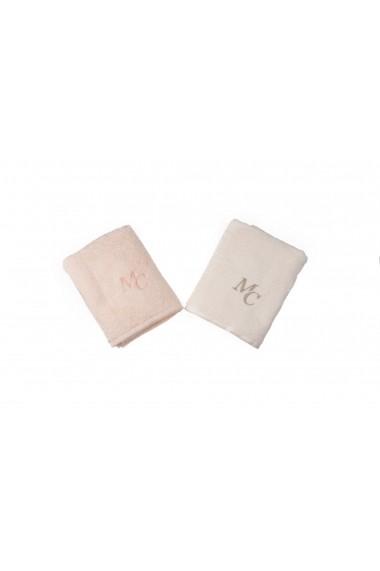 Set 2 prosoape pentru maini Marie Claire ASR-332MCL1209 Roz