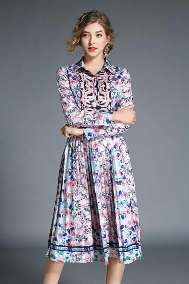 Rochie de zi Kaimilan QH660 Multicolor