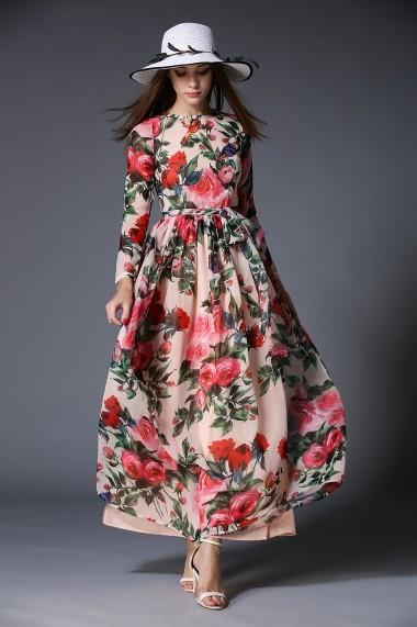 Rochie de zi Kaimilan QH207 Floral - els