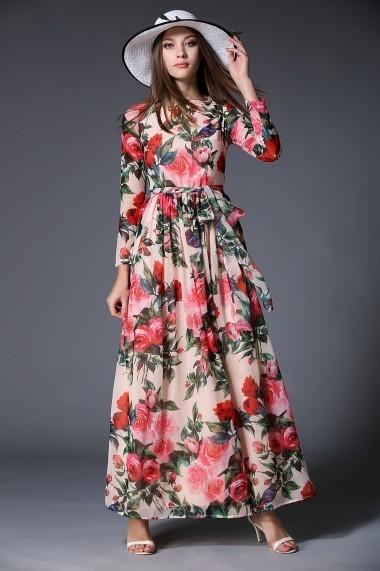 Rochie de zi Kaimilan QH207 Floral