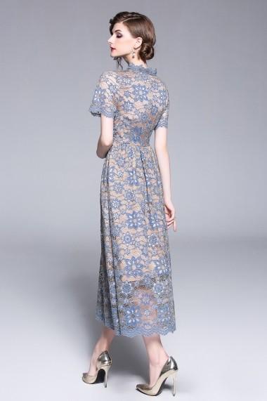 Rochie de zi Kaimilan QH363 Albastru - els