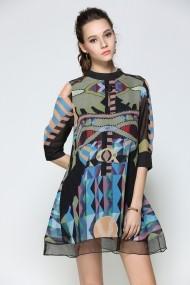 Rochie de zi Kaimilan QC068 Multicolora