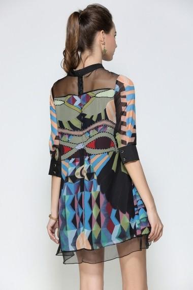 Rochie de zi Kaimilan QC068 Multicolor