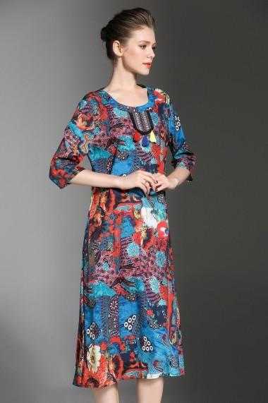 Rochie de zi Kaimilan QC872 Multicolor