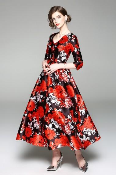 Rochie lunga Kaimilan QE626 Floral