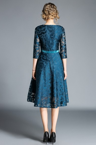 Rochie de seara Kaimilan QH639 albastra