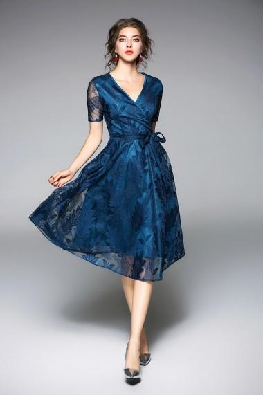 Rochie de seara Kaimilan QE335 Albastru - els