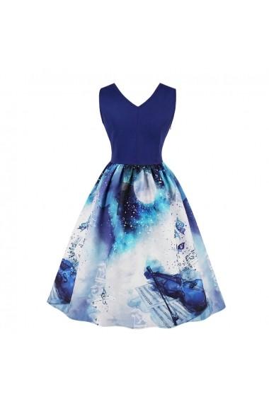 Rochie de seara Mixinni 1608 albastru - els